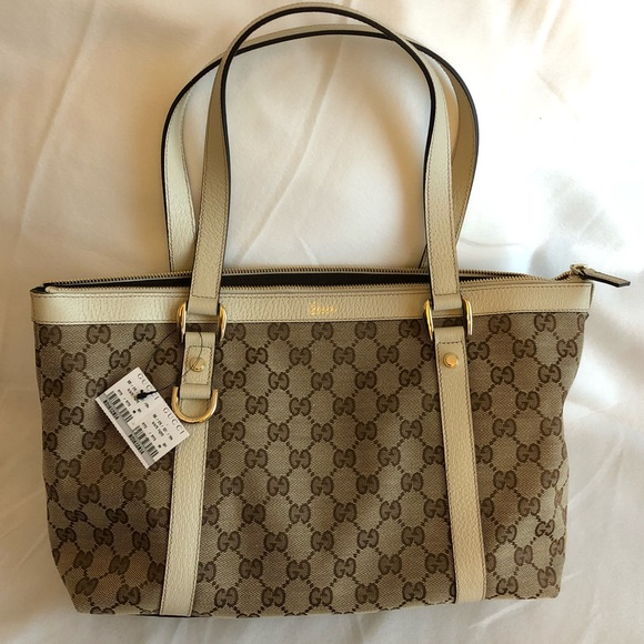 8203faeb7 Gucci Bags | Brand New Authentic Signature Abbey Tote | Poshmark